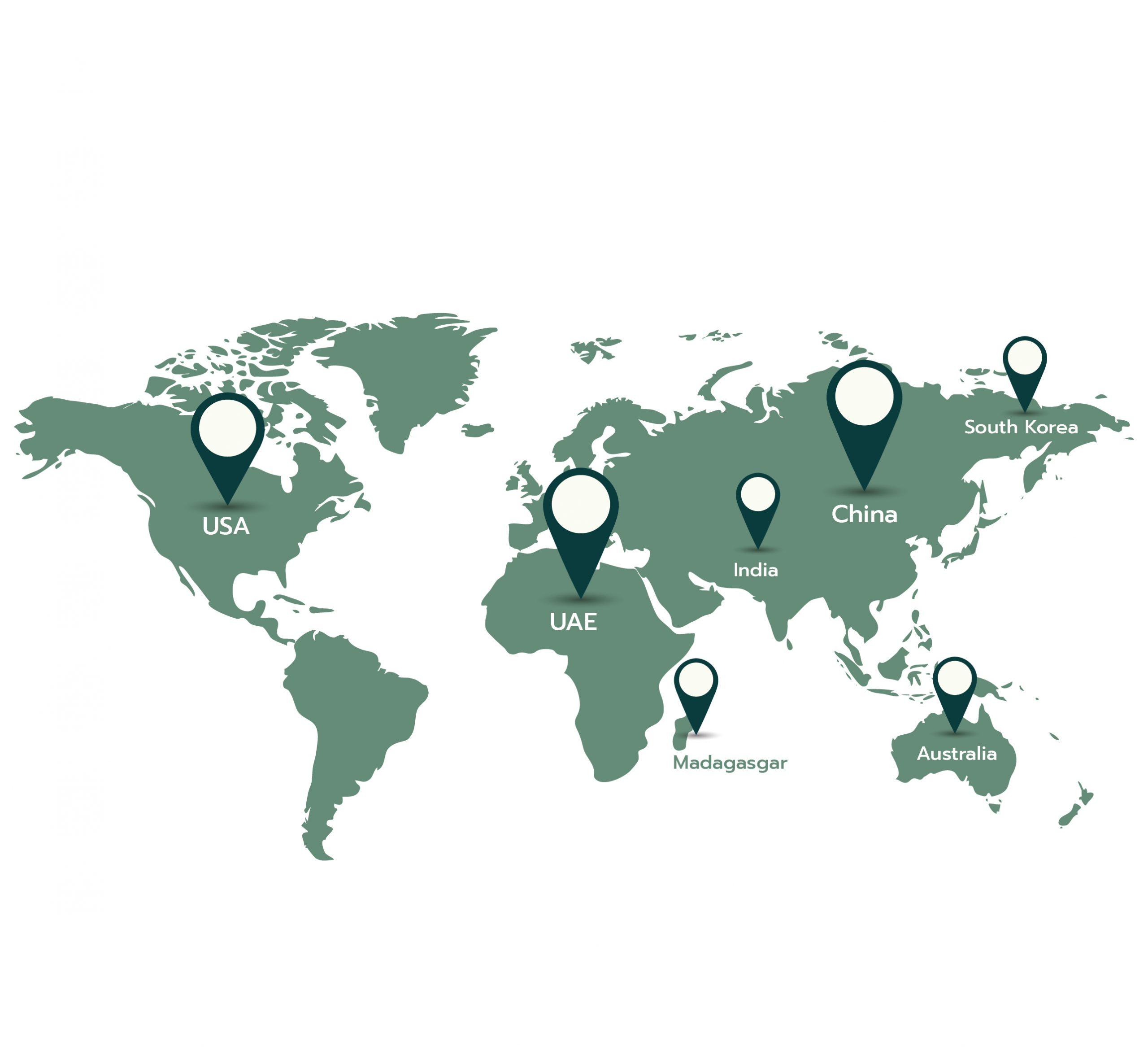 แผนที่แสดงกลุ่มลูกค้าเมดิคอส โรงงานผลิตสินค้าสปา รับผลิตยาหม่อง รับผลิตยาดมสมุนไพร